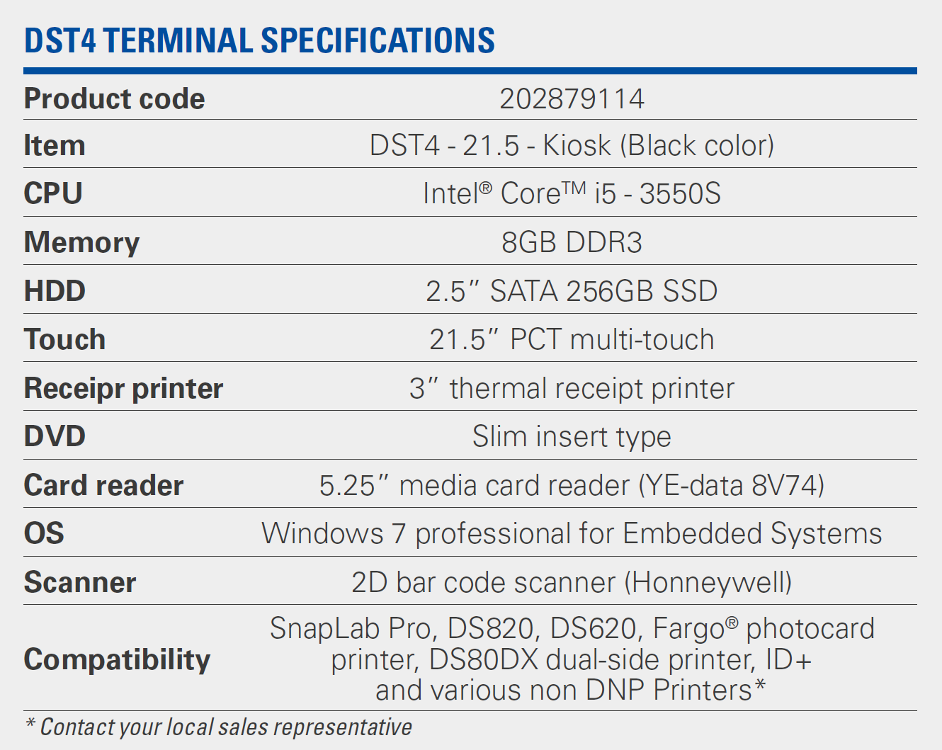 ds lab specifications