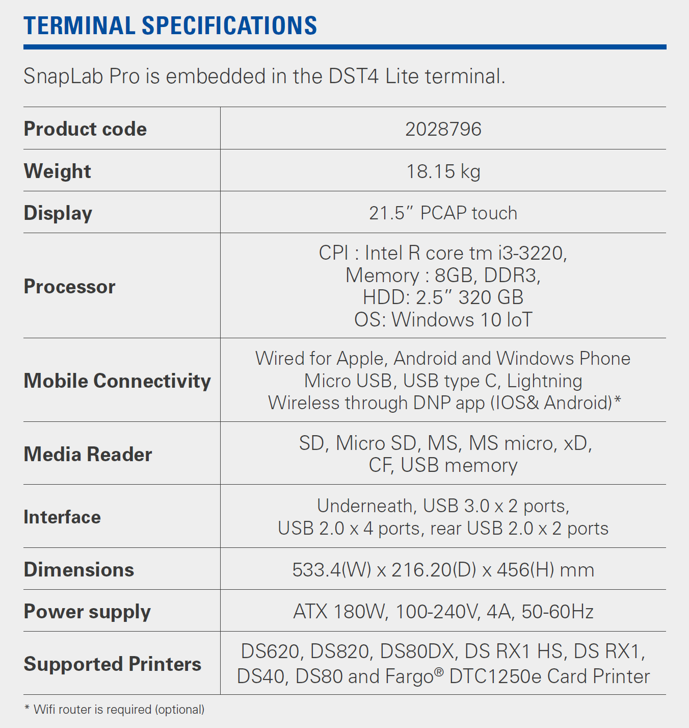 snaplab pro specifications