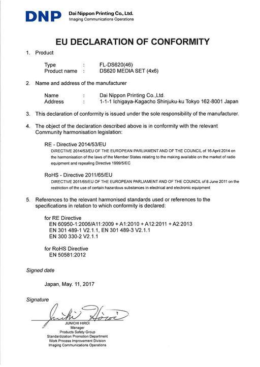 EU DoC for FL-DS620(46)